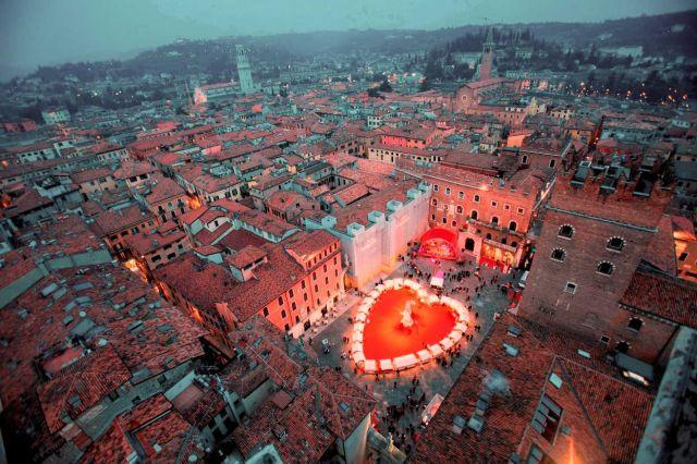 Verona durante el Día de San Valentín